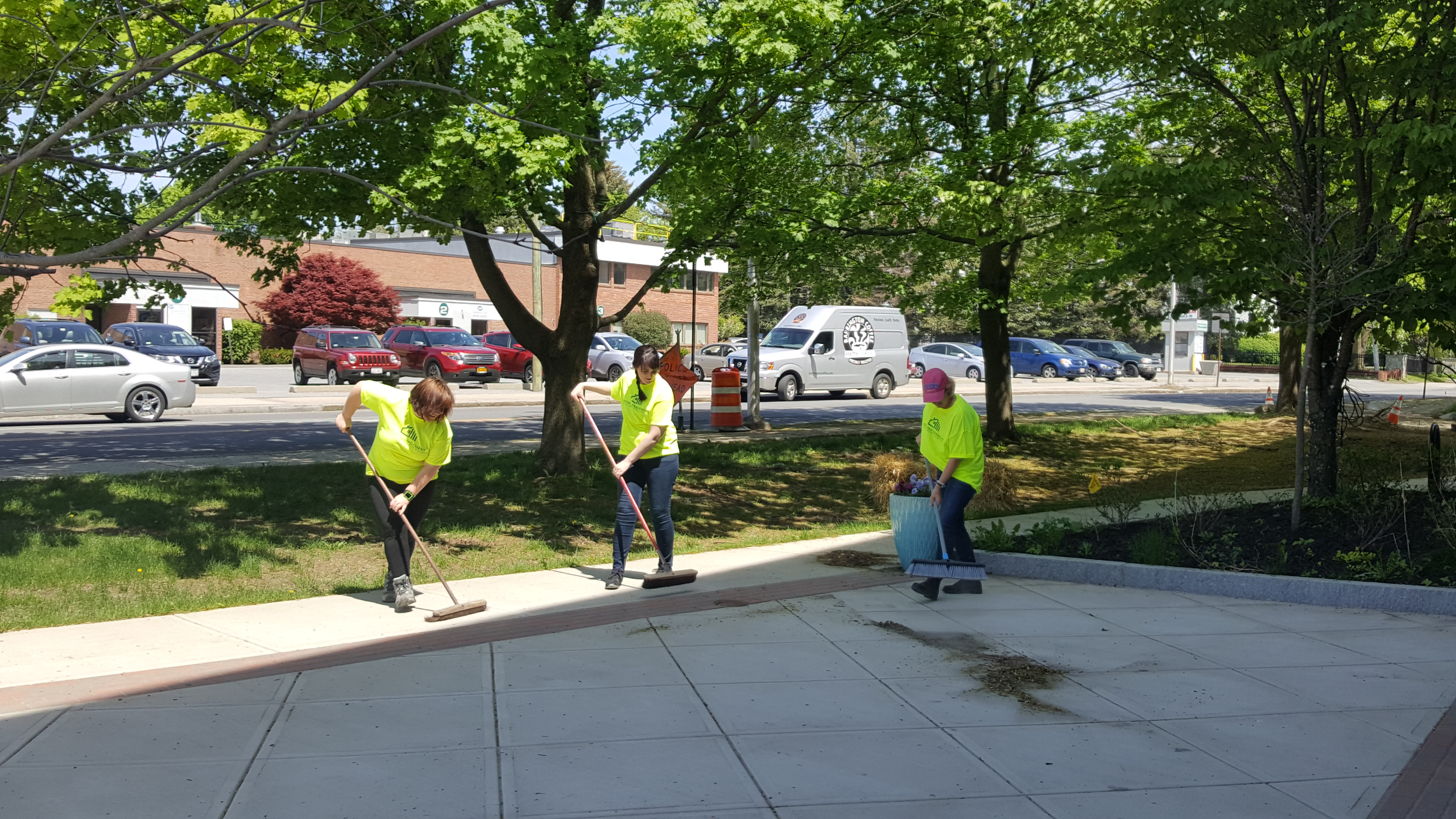 Teton Management Staffs Team for Downtown Pittsfield Annual Spring Cleanup